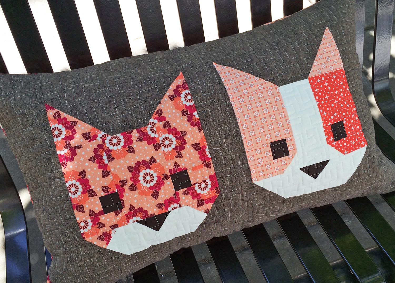 Cat Friends Pillow Elizabeth Hartman Designs