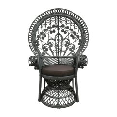 Rattan Peacock Chair Kneeling With Back Painted Dekor