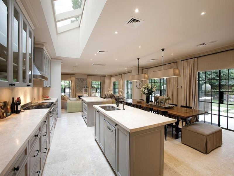 Large Square Kitchen Layout