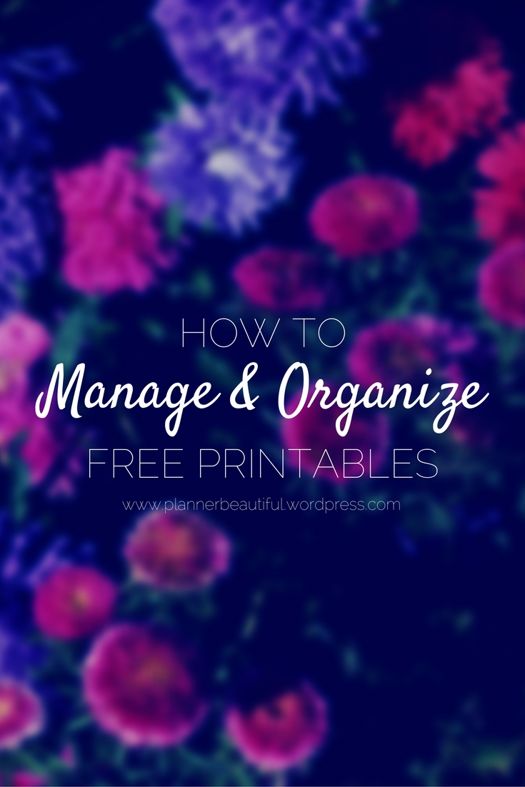 How ToManage, Organize and StoreFree Planner Printables (1)