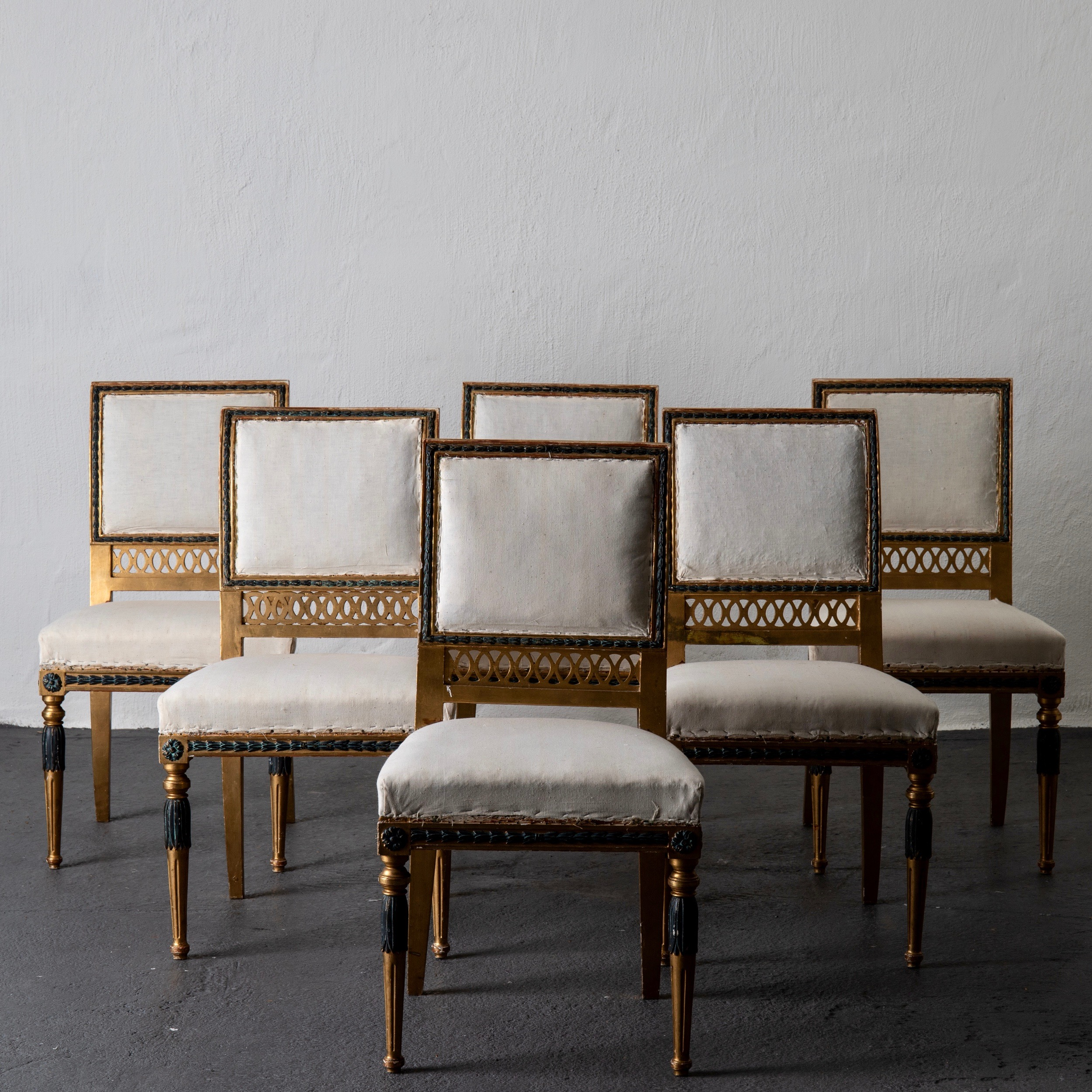 Dining Chair Set Of 6 Dining Chairs Set Of 6 Neoclassical Sweden