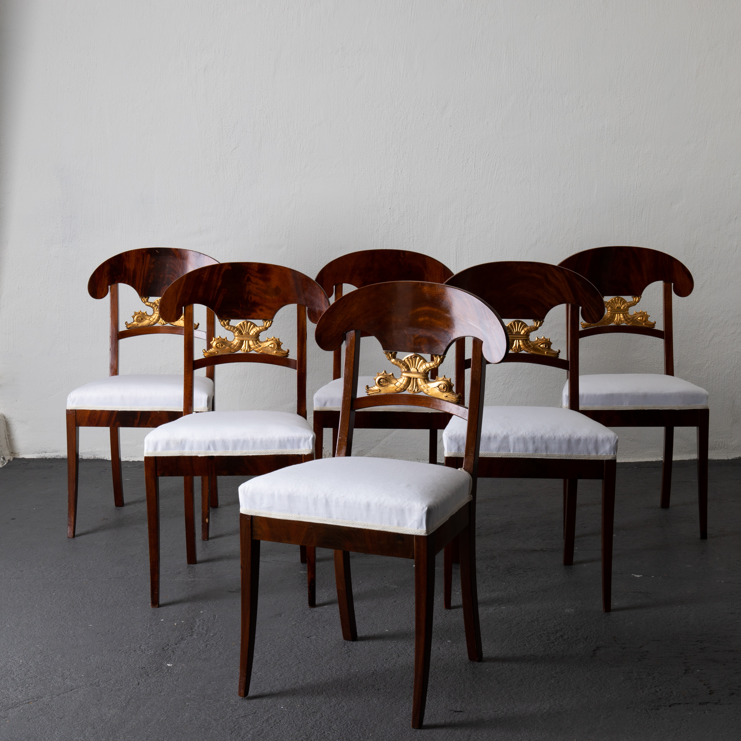 Dining Chair Set Of 6 Dining Chairs Set Of 6 Mahogany Sweden