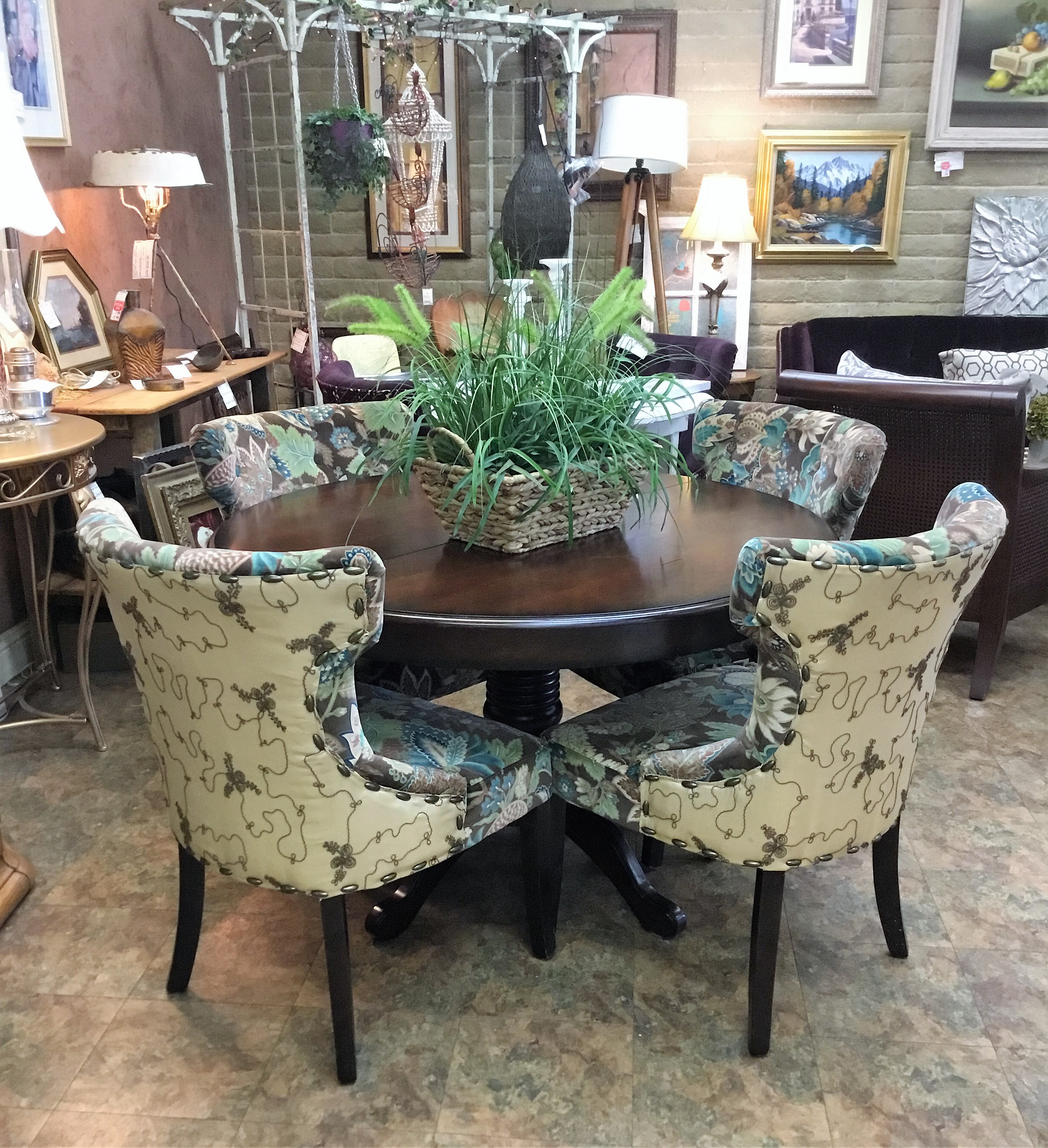 pier one round chair oversized leather dining table w 4 1 chairs leaf finders keepers jpg