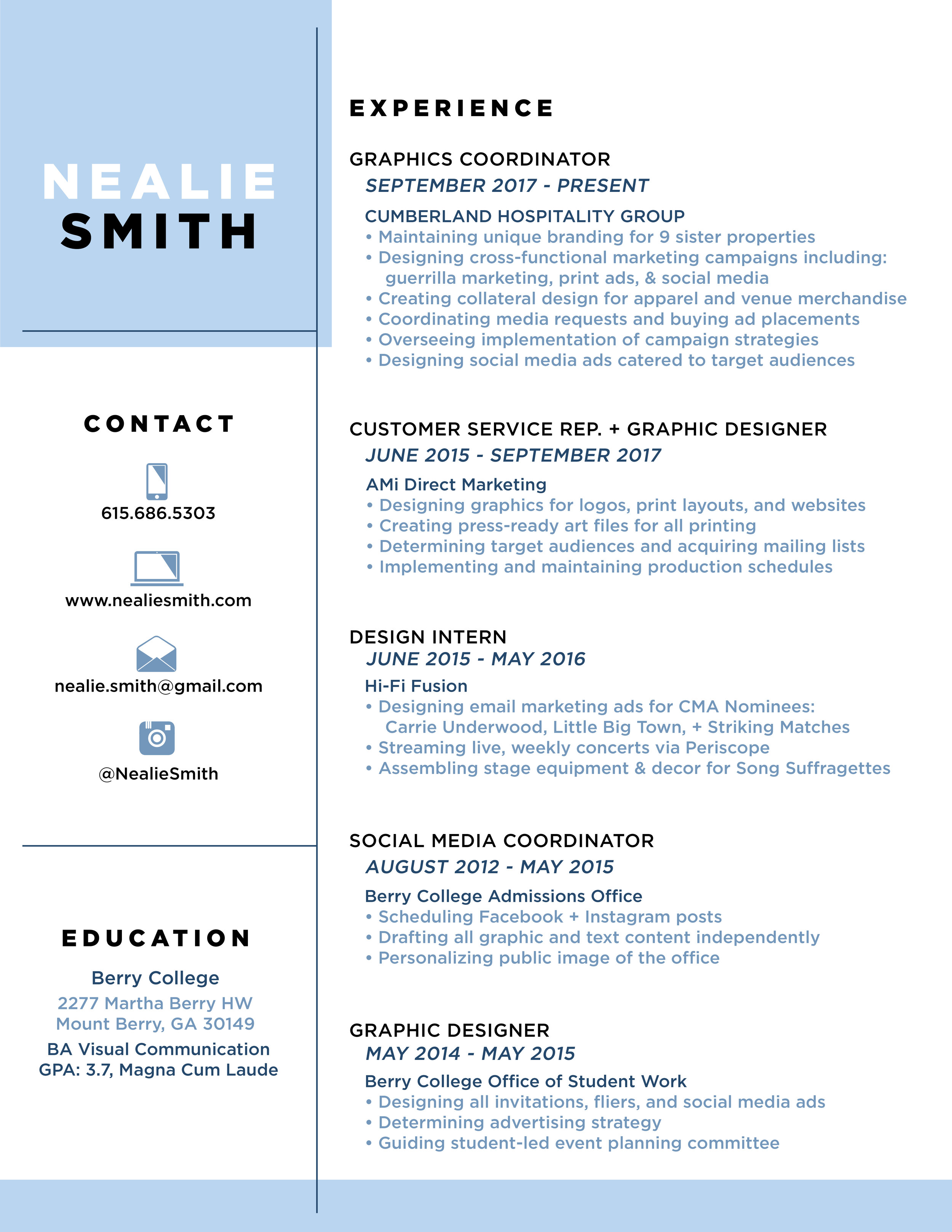 Guerrilla Resume Resumé Nealie Smith