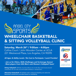 Wheelchair Volleyball Amazon Basketball Sitting Clinic Angel City Sports Big Thanks To Ucla Adaptive Recreation Usa And Southern California Association