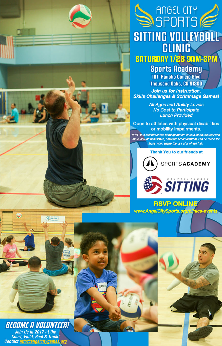 wheelchair volleyball high back accent chair sitting clinic angel city sports
