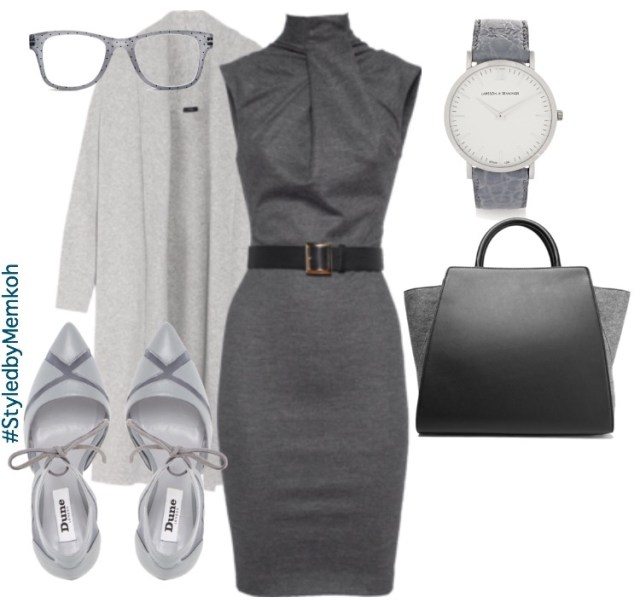 Dress: DSquared2 (via Jades24) \ Coat: Net-a-Porter \ Shoes: Dune London \ Bag: Zac Posen (via The Outnet) \ Watch: Larsson & Jennings (via The Outnet) \ Glasses: Chicos