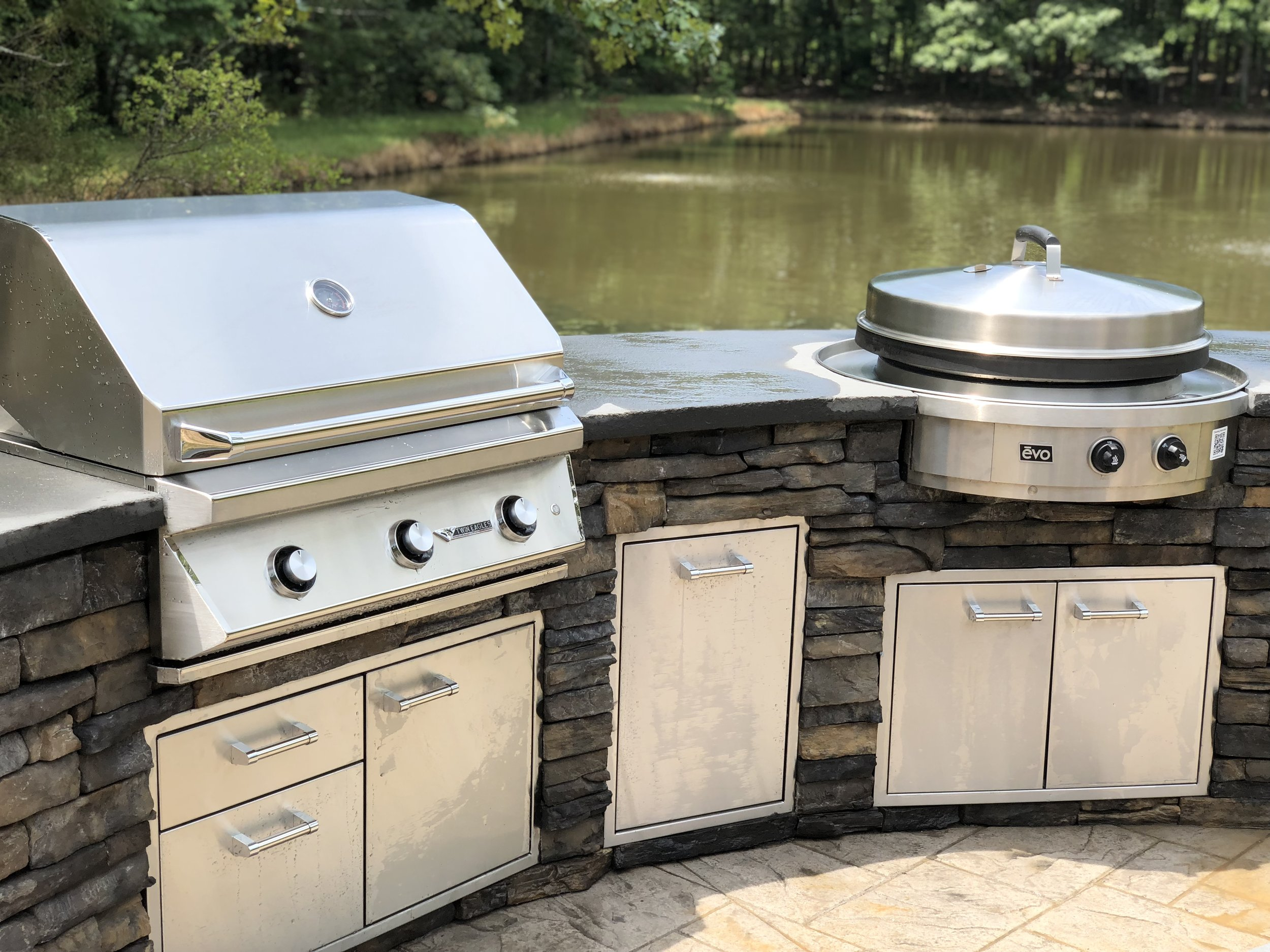 grill for outdoor kitchen aid coffee kitchens charlotte company every project starts with a complimentary onsite consultation and 3d sketch of our islands are constructed high grade aluminum
