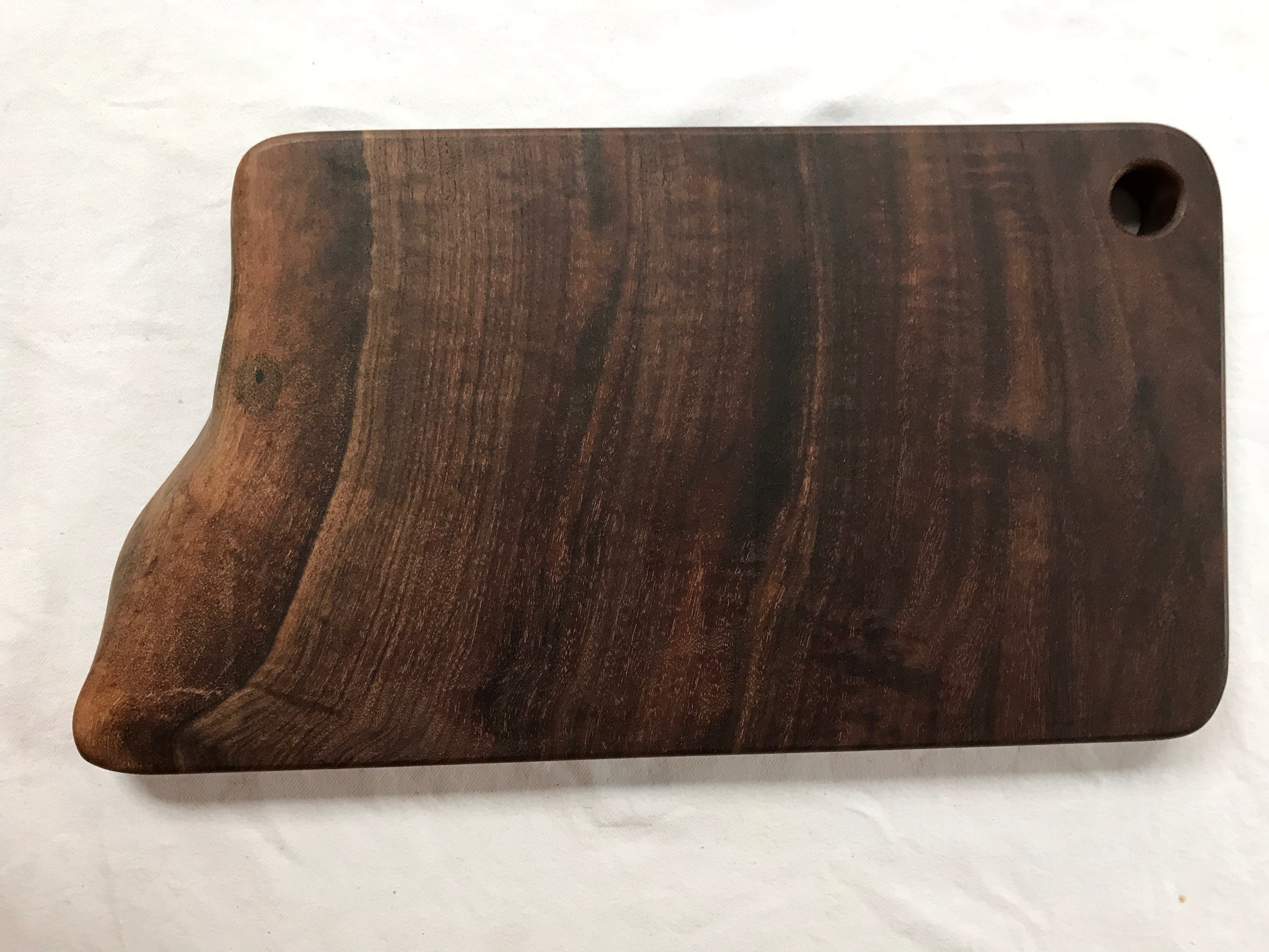 kitchen cutting board chair cushions hardwood reclamation custom boards live edge walnut serving