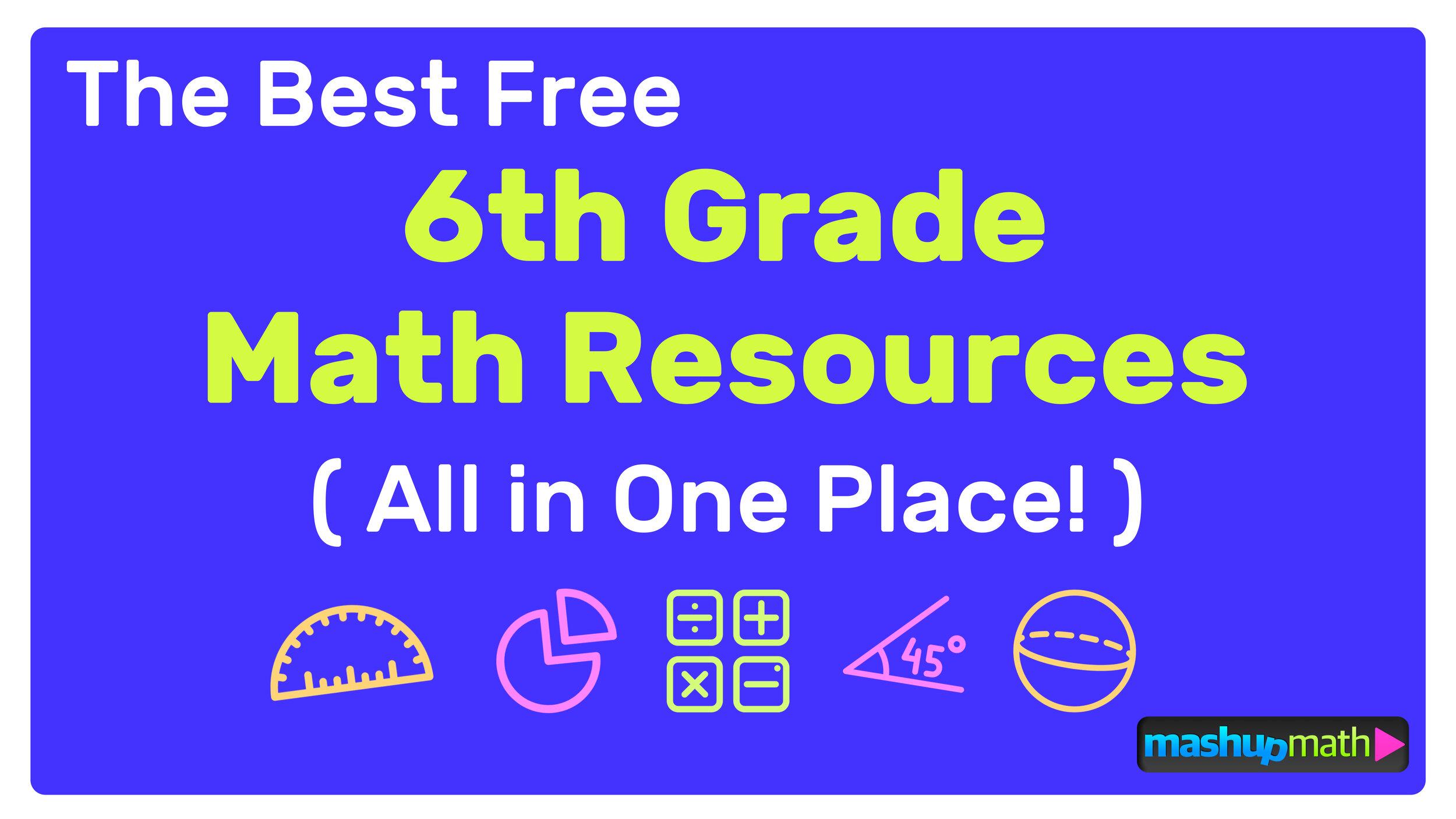medium resolution of The Best Free 6th Grade Math Resources: Complete List! — Mashup Math