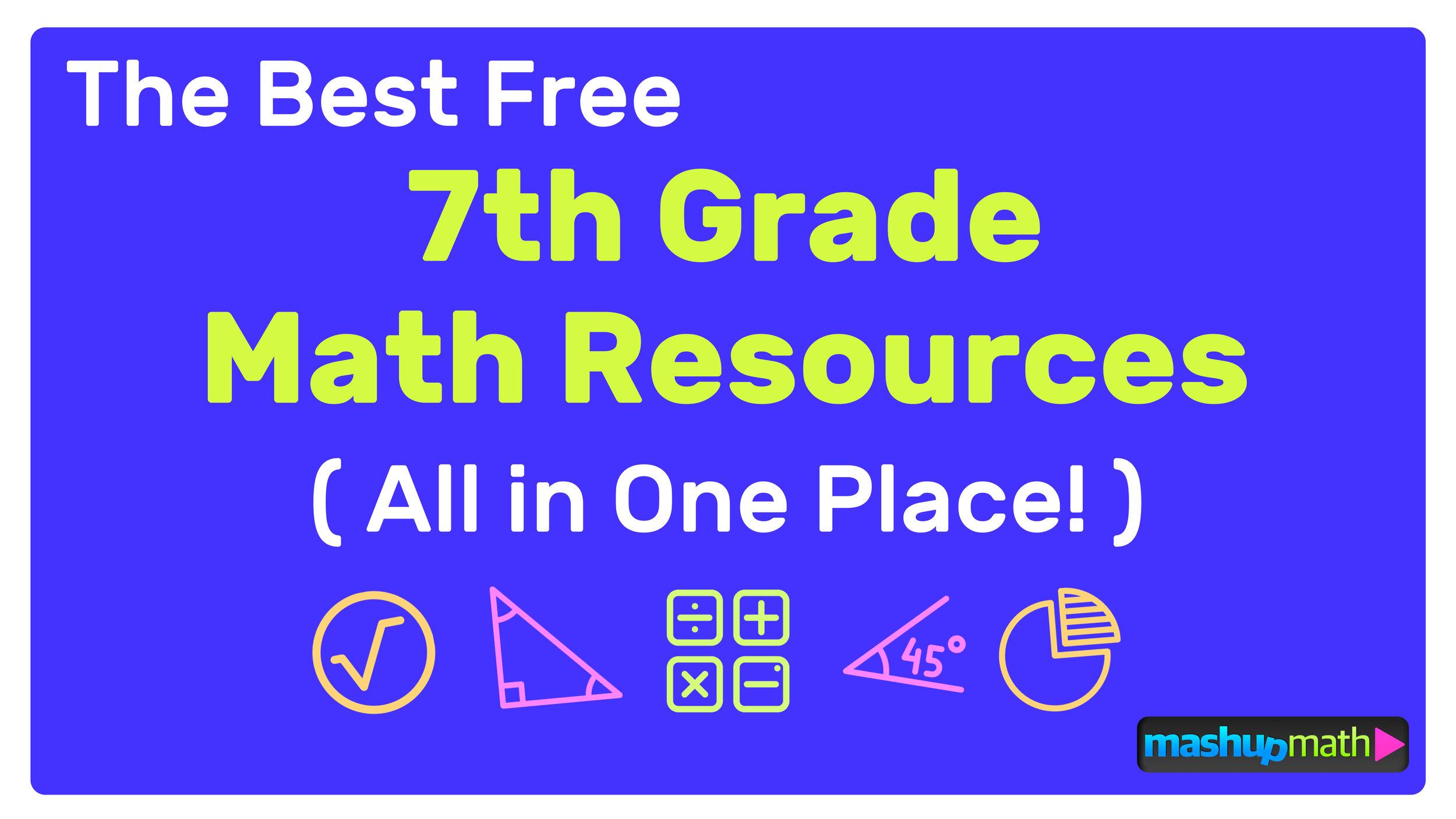 medium resolution of The Best Free 7th Grade Math Resources: Complete List! — Mashup Math