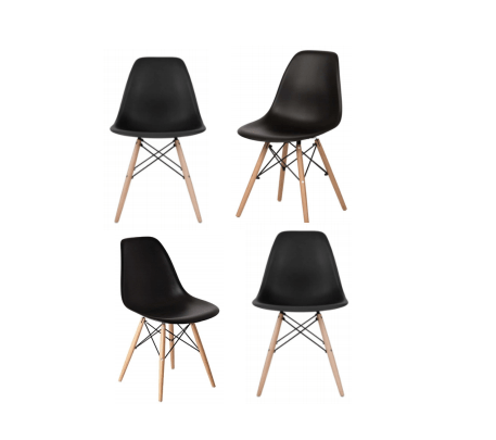 black eames chair sears dining chairs arrangements floral party design