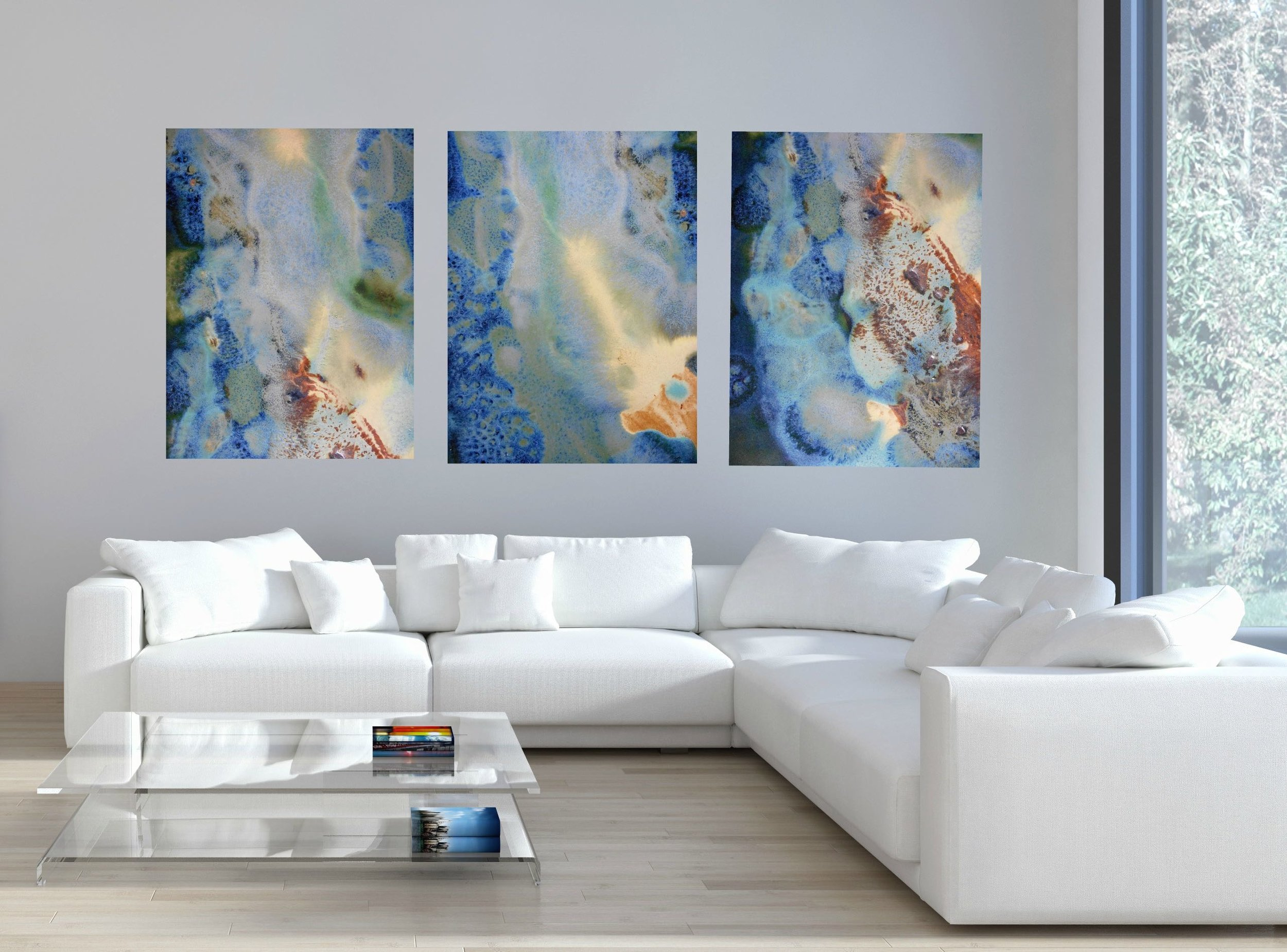modern living room canvas art accent decor for my new innovative collection of abstract artwork maggie green blue and yellow print set in