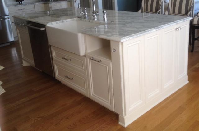 custom kitchen islands andersen windows bull restoration island example dishwasher sink end storage jpg