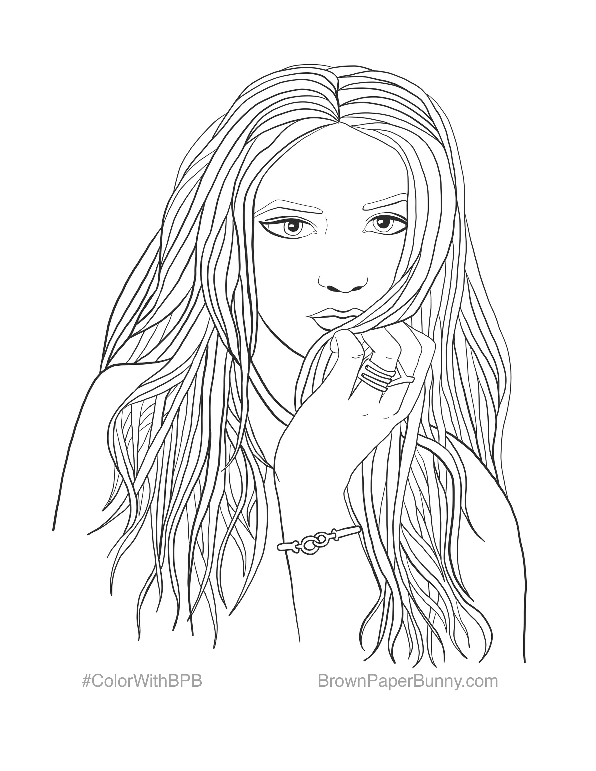 Free Coloring Pages — BrownPaperBunny