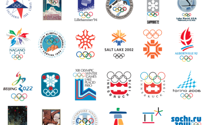 Olympic Winter Games Logos Fredrik Magne