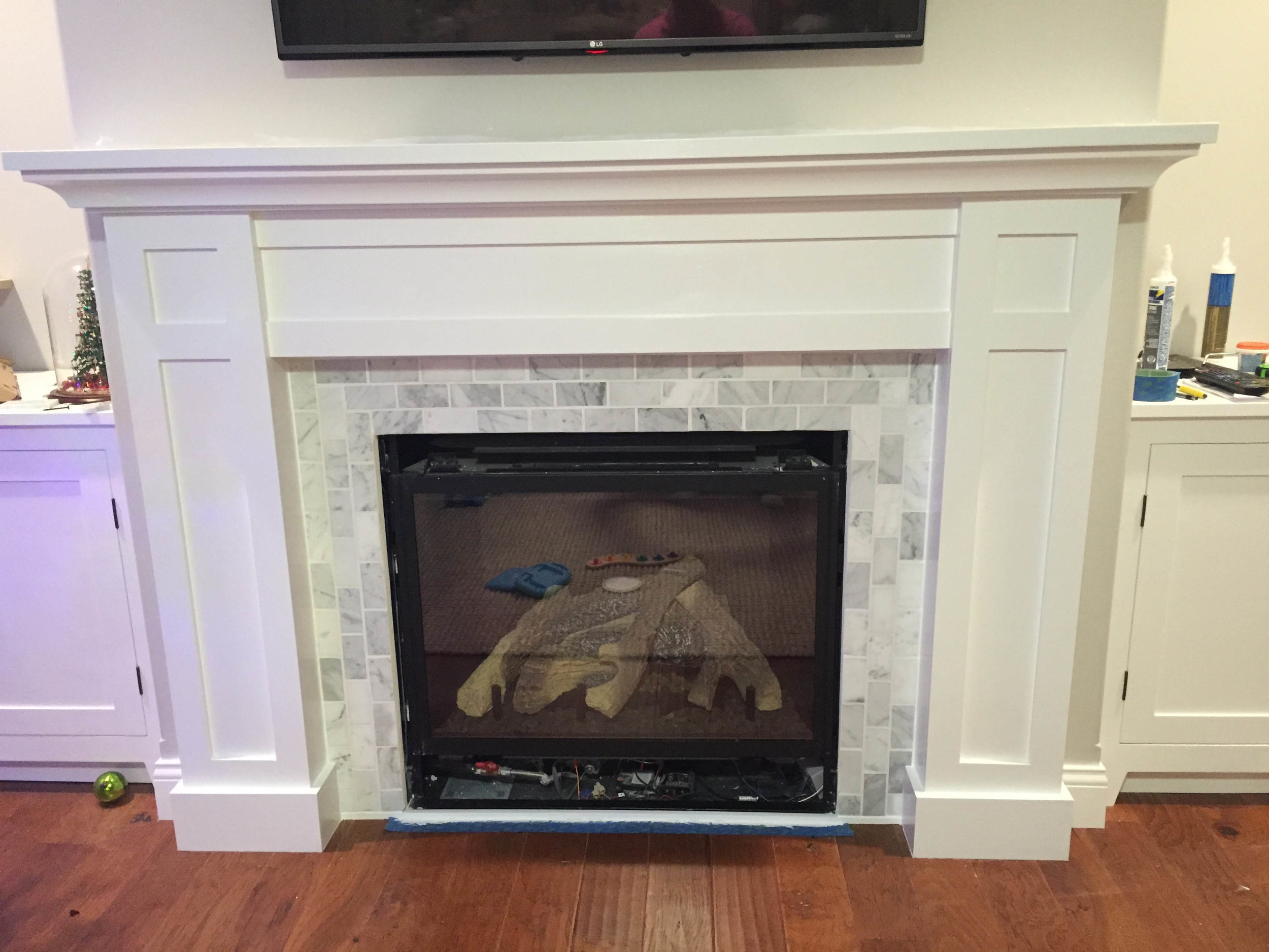 Gas Fireplace Surround Plans How To Build A Shaker Fireplace Mantel And Surround