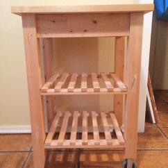 Wooden Kitchen Cart Sink Base Cabinet Sizes Diy Ikea Four Threads Hack