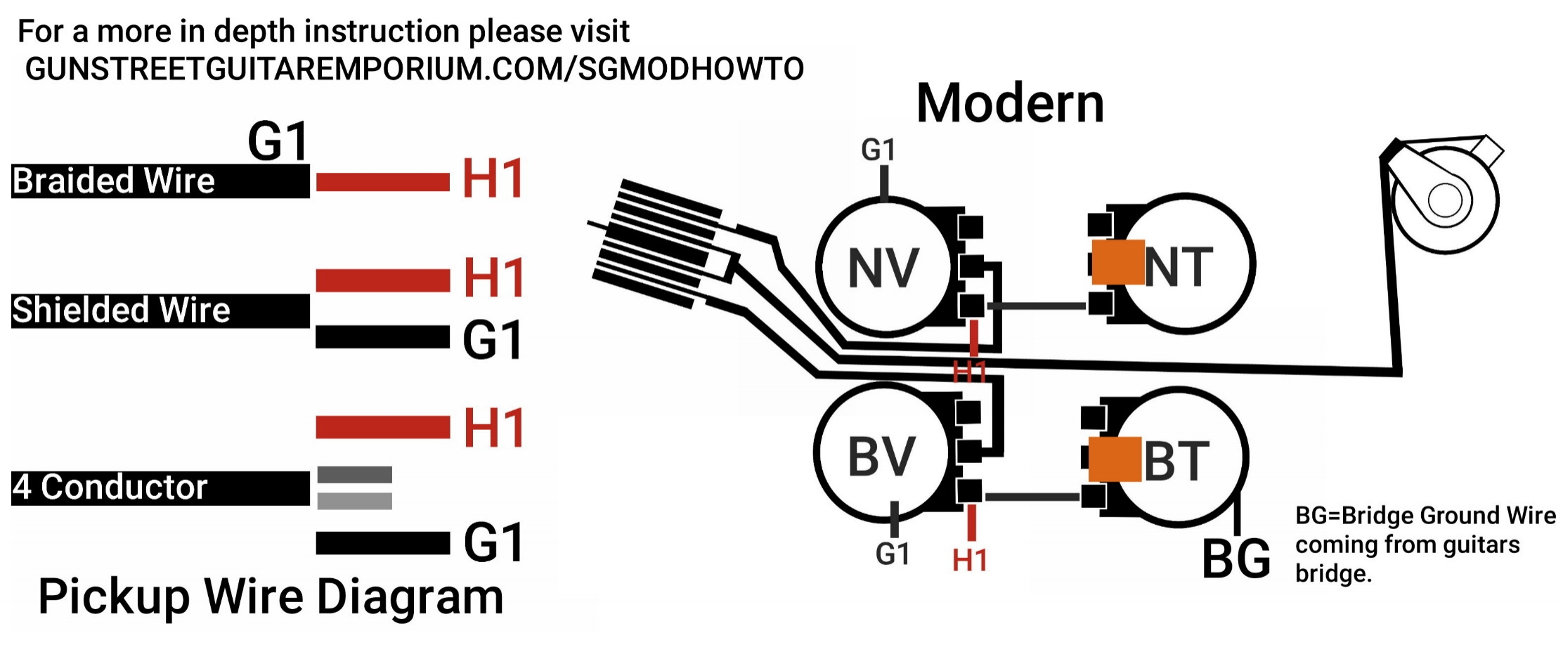 Guitar Bridge Wiring Diagram