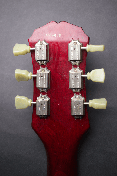 small resolution of in order to install the new gibson tuners we had to enlarge the stock holes this is a mod that we truly must stress caution when doing as it requires a
