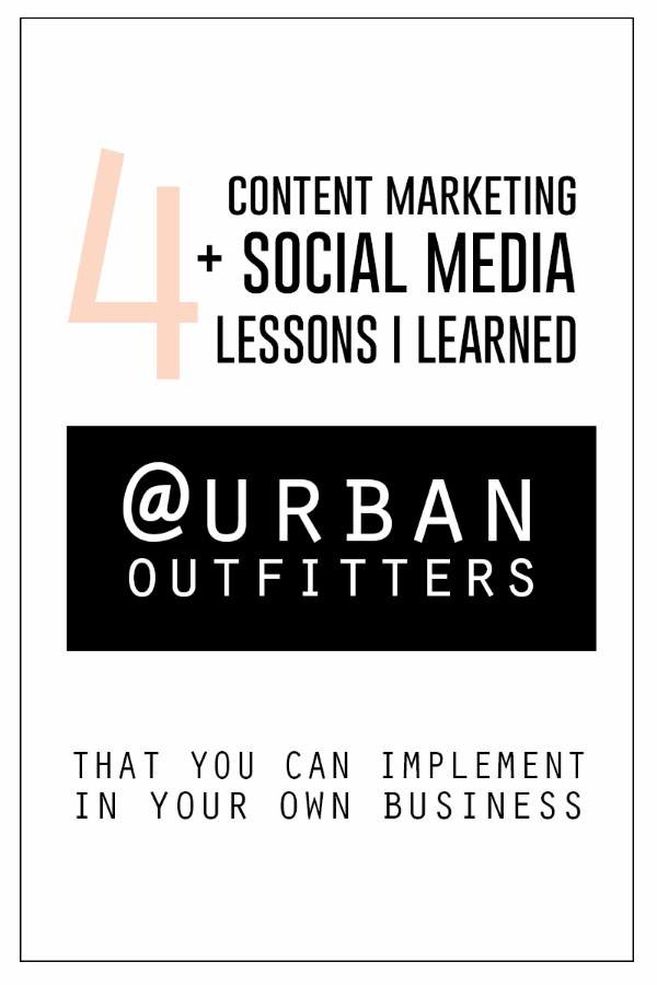 4 Valuable Lessons I Learned from Urban Outfitters about