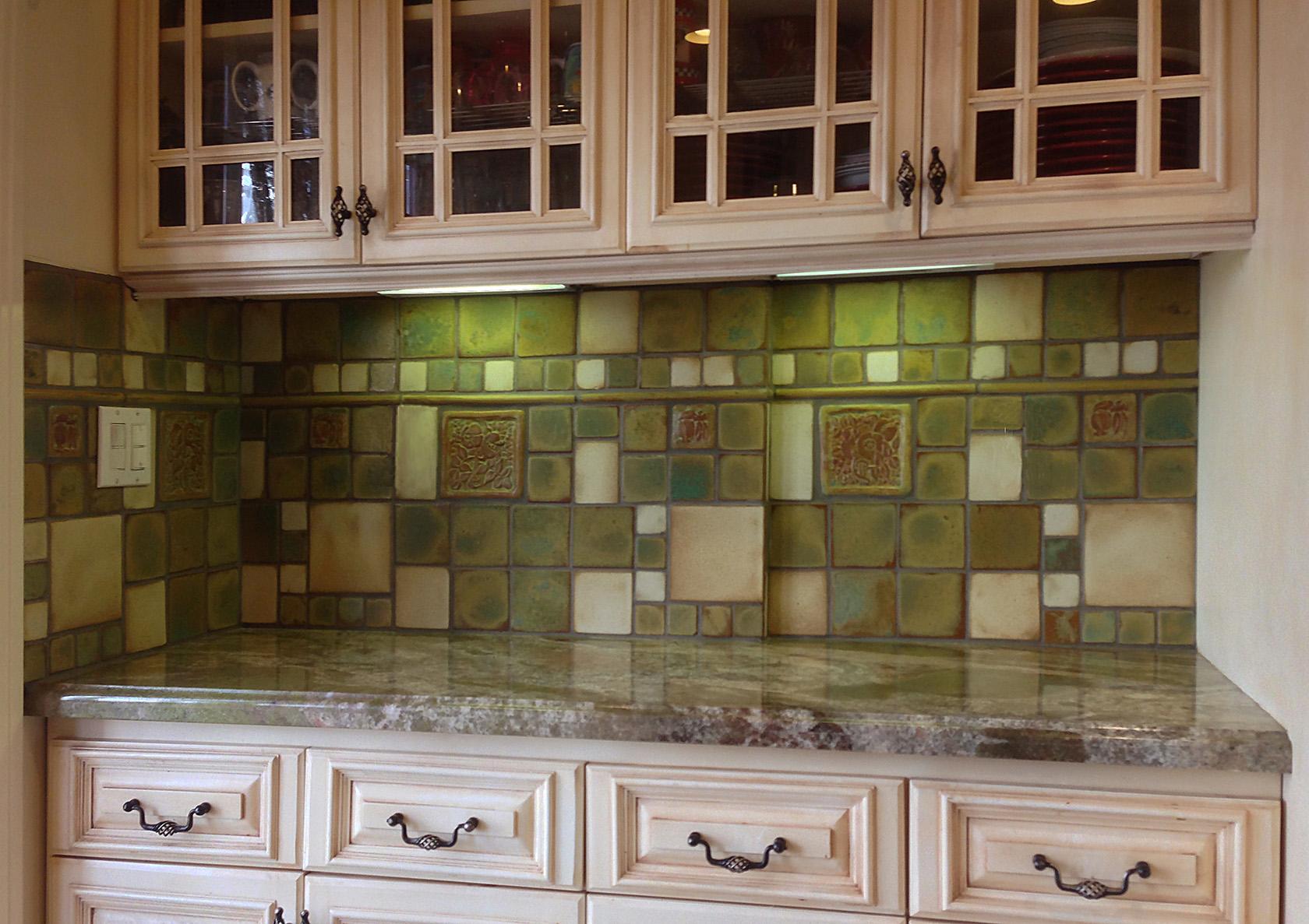 tile kitchen scrub brush kitchens pasadena craftsman appler
