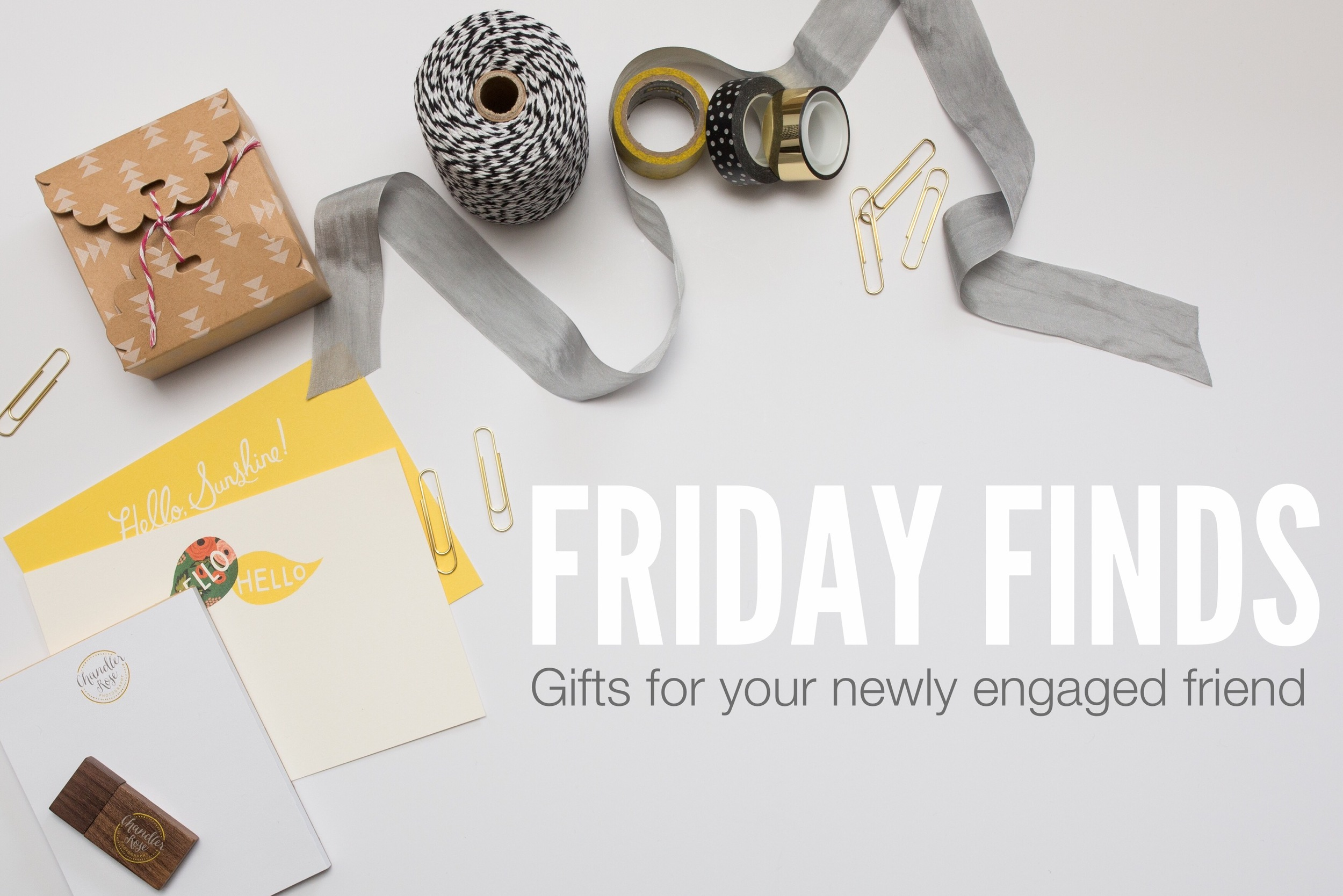 Friday Finds Gifts For Your Newly Engaged Friends