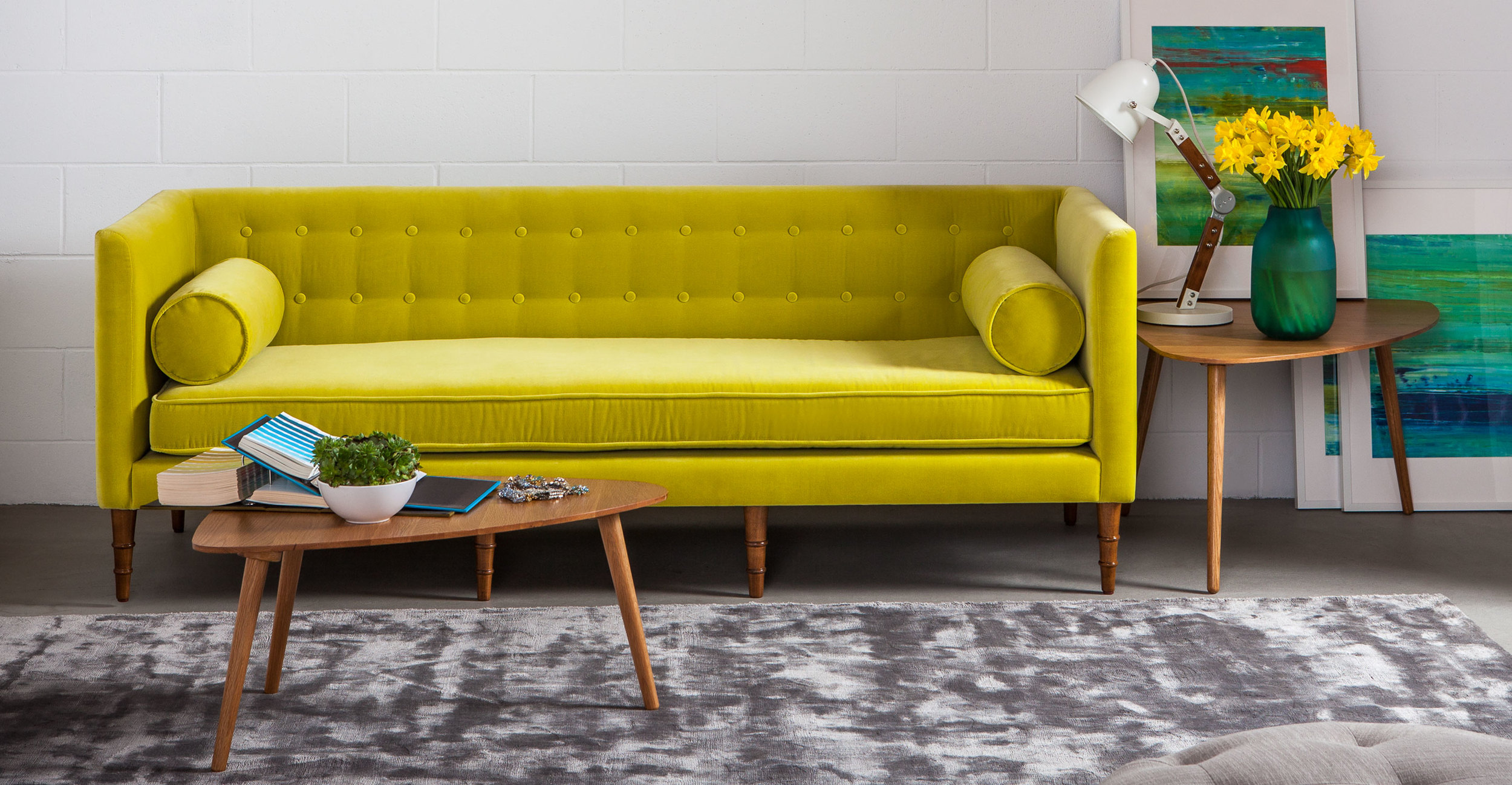 bright sofa 100 real leather sofas current obsession bold mod pieces celosia from bryght
