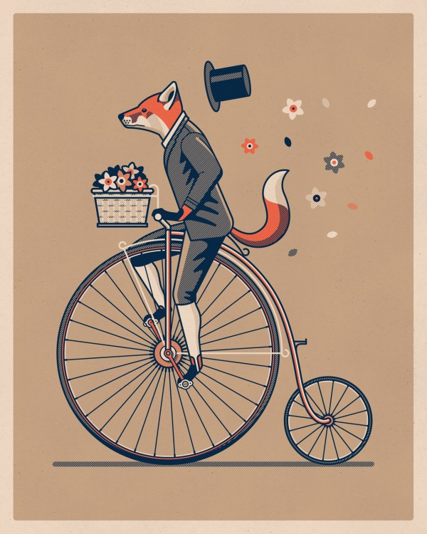 Penny Farthing Art Print Dkng