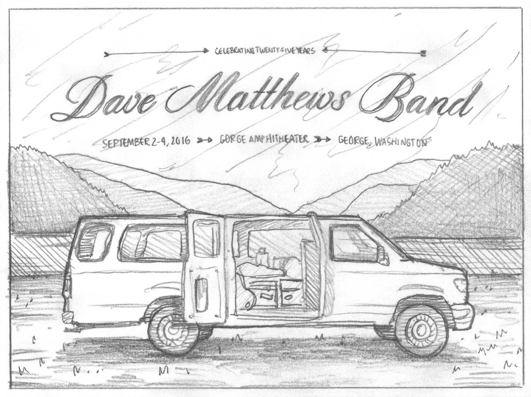 Dave Matthews Band Gorge Poster — DKNG