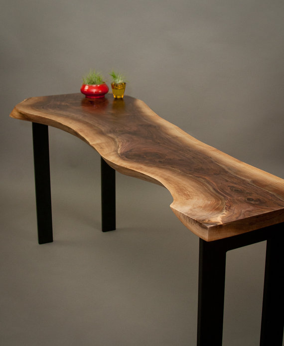 sofa console tables wood miami bed live edge and furniture black walnut entry table jpg
