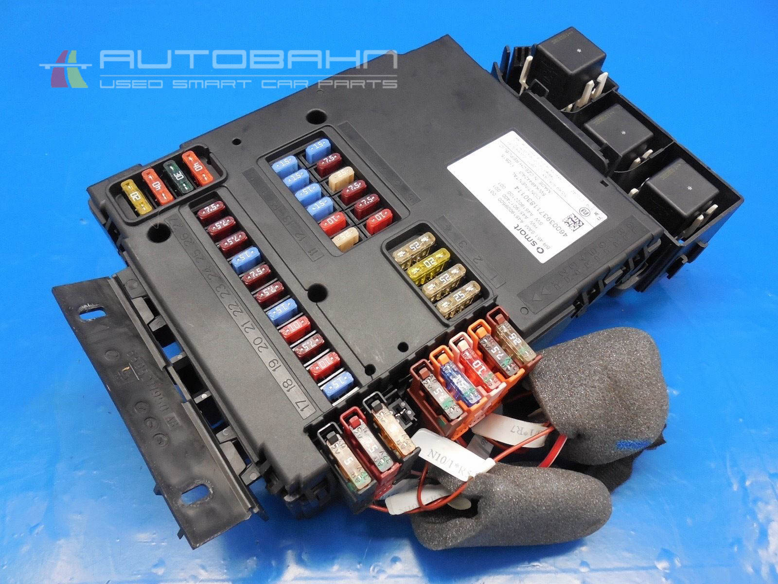 hight resolution of  fortwo passion pure 2008 2015 oem complete fuse box relay board 02