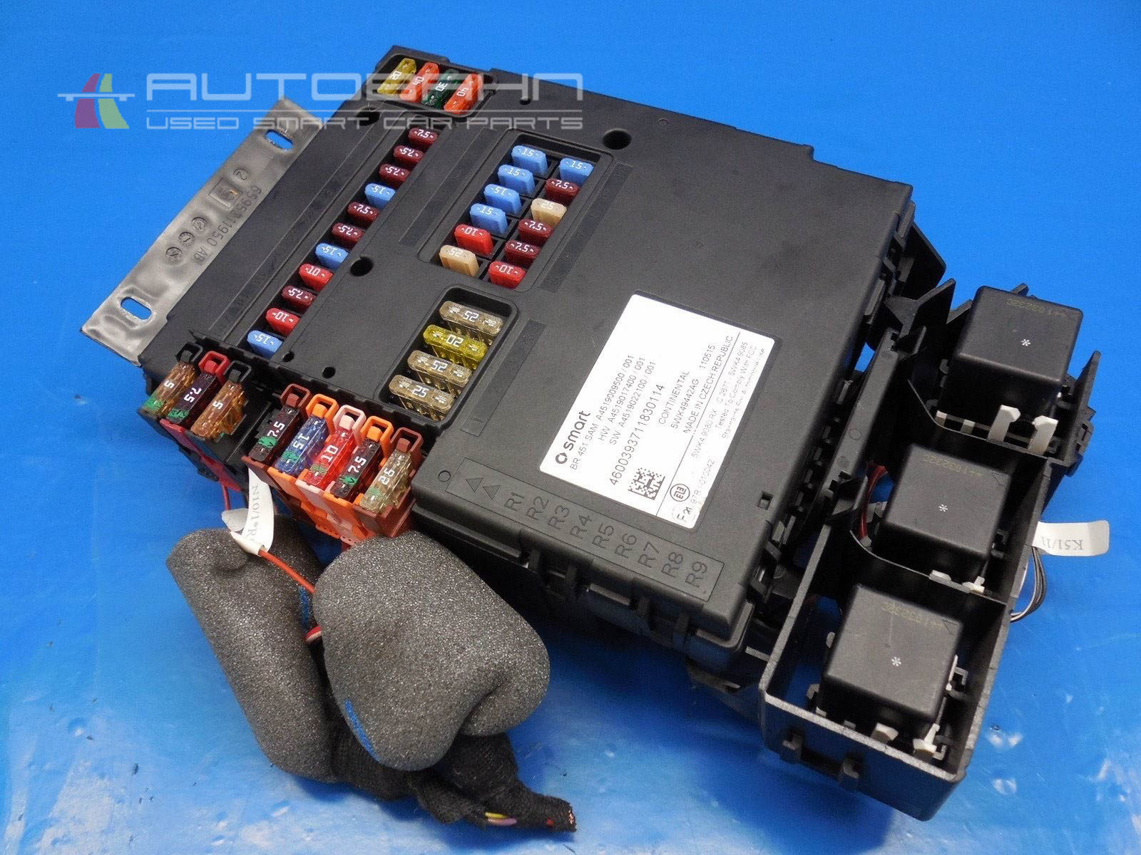 hight resolution of fortwo passion pure 2008 2015 oem complete fuse box relay board 01