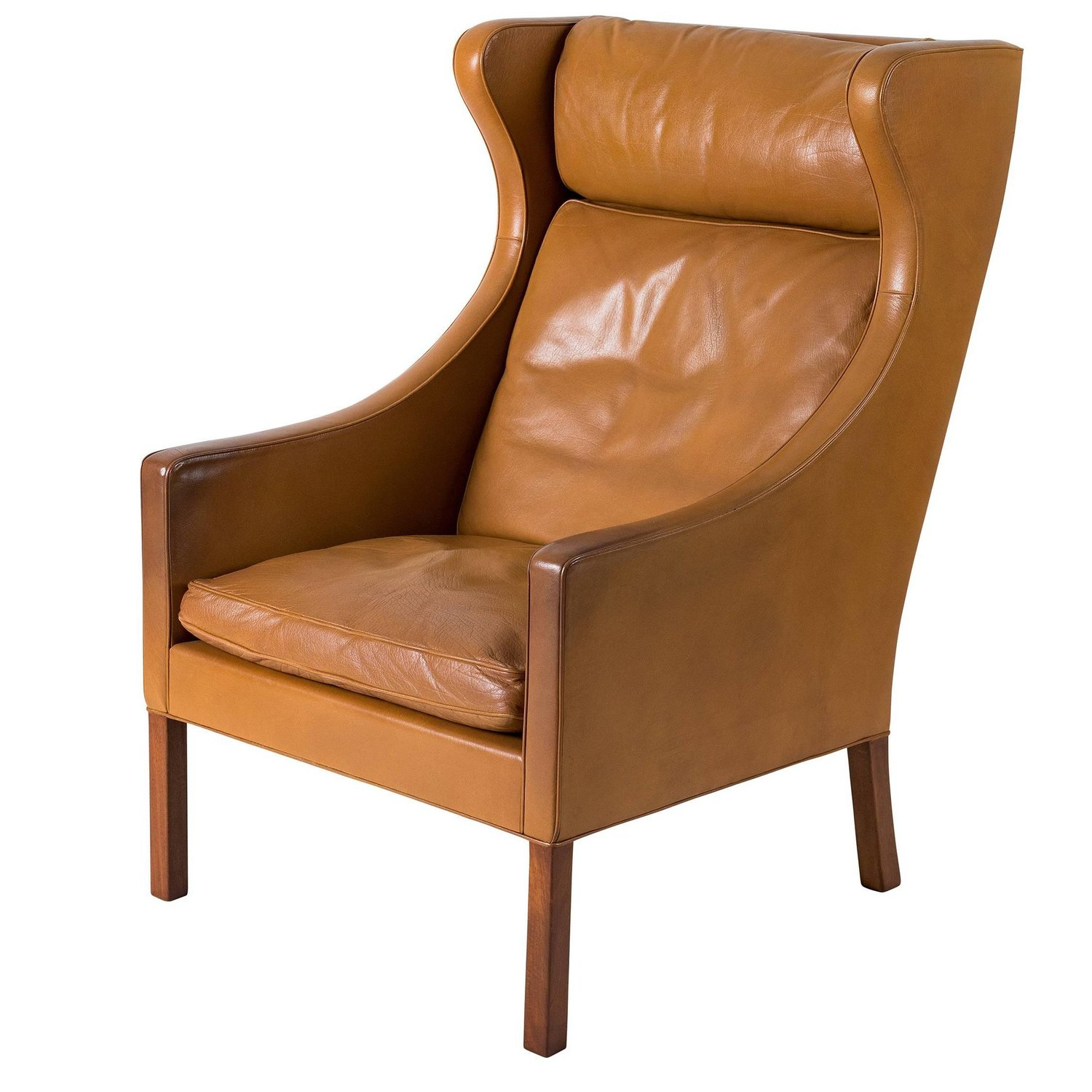 leather wingback chairs beach target store borge mogensen chair denmark 50