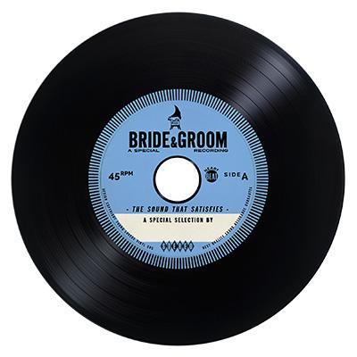 blue vintage vinyl cd