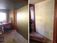 Before And After: Metallic Painted Walls  COCOON HOME