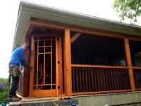 Screening in the porch...  Sticks & Stones Construction LLC