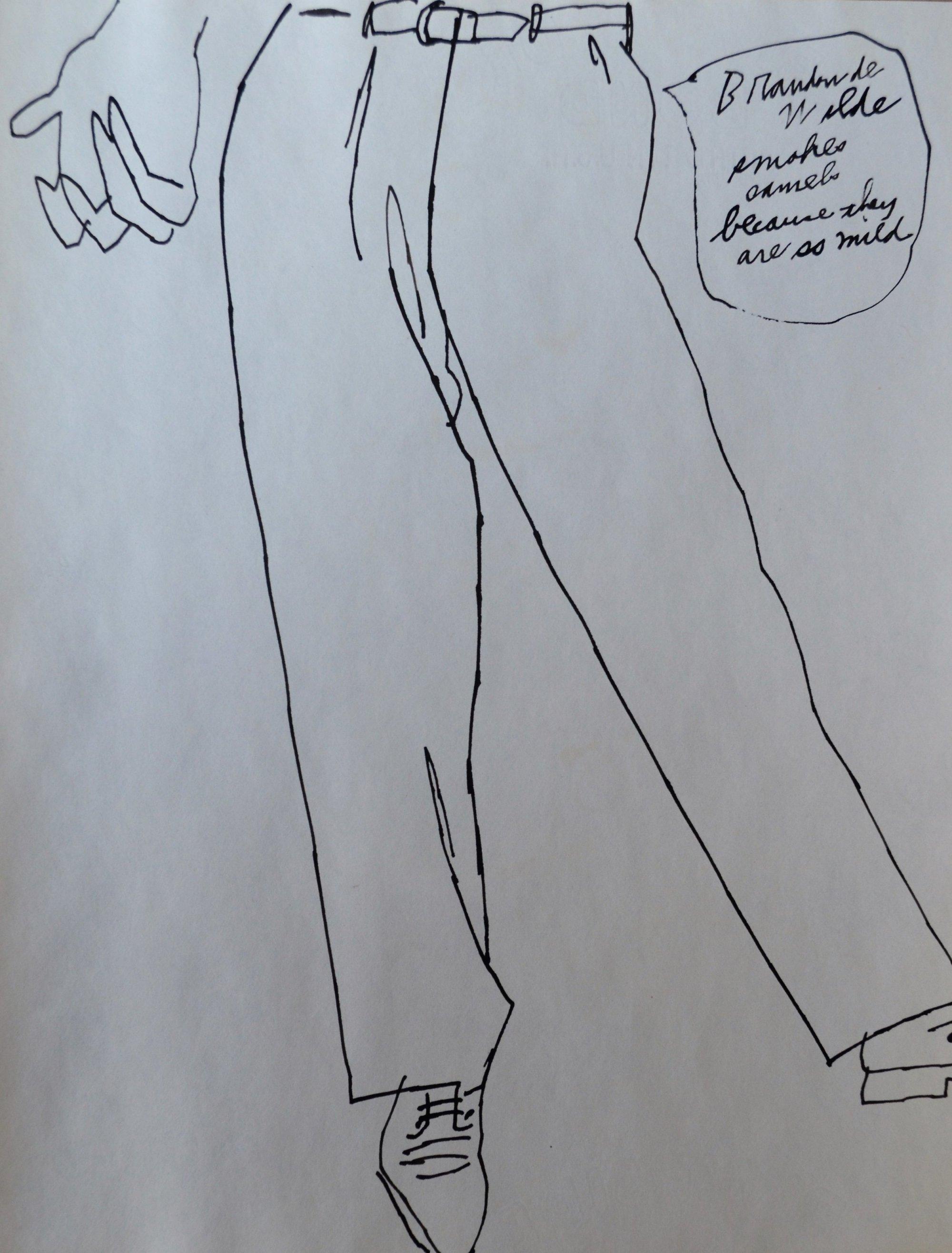 hight resolution of andy warhol lower torso