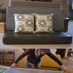 Recovering Chair Cushions Vinyl Kids Wood How To Reupholster Your Travel Trailer In Just Five Reupholstering Our Bench Seat Nbsp No Joke But After Long Weekends