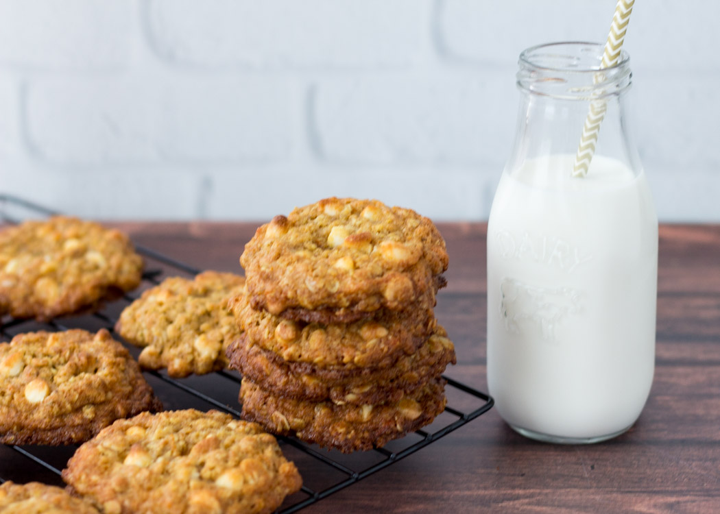 Orange Oatmeal White Chocolate Chip Cookies by Butter & Type
