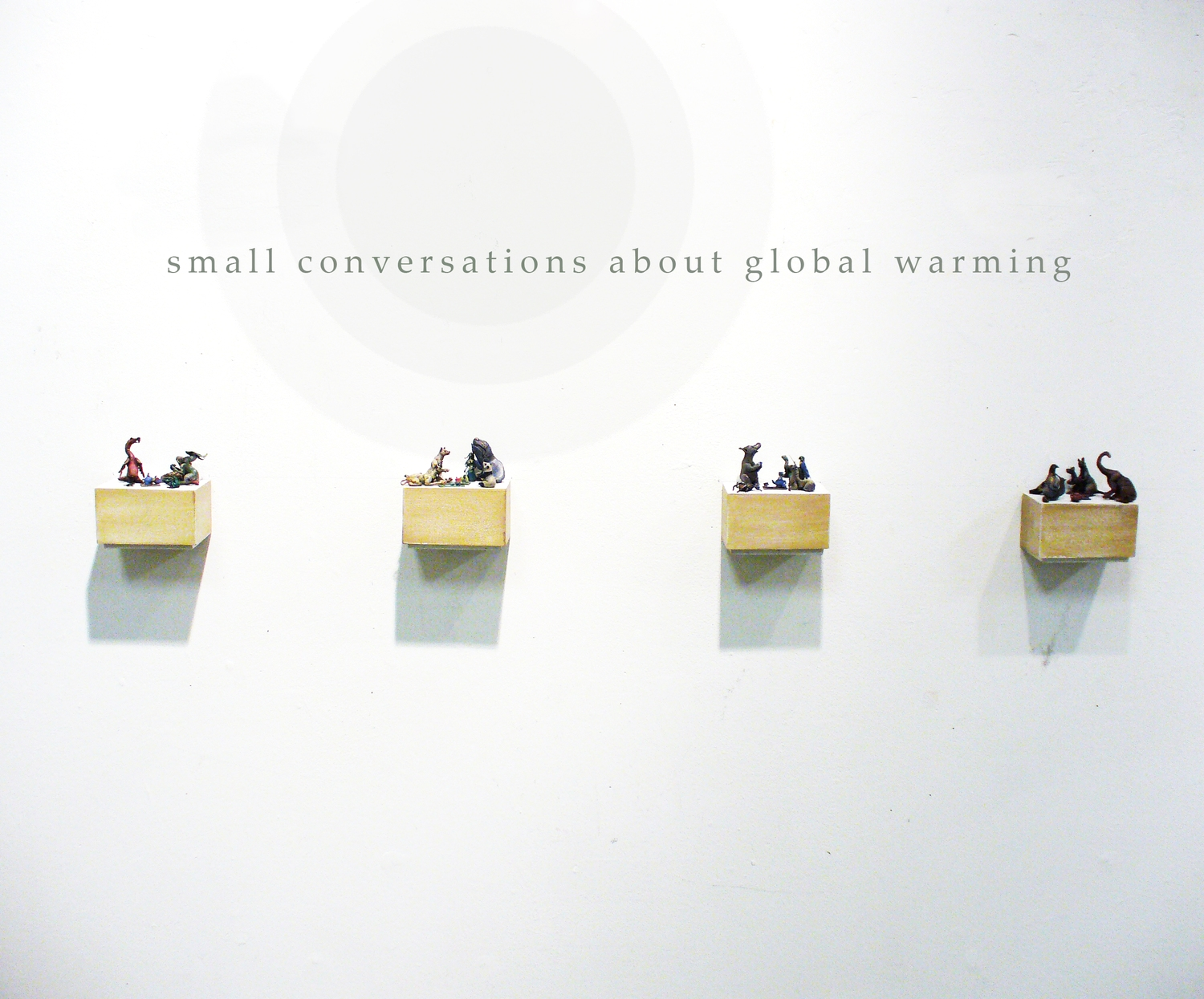hight resolution of small conversations about global warming miniature mixed media sculpture the new space gallery