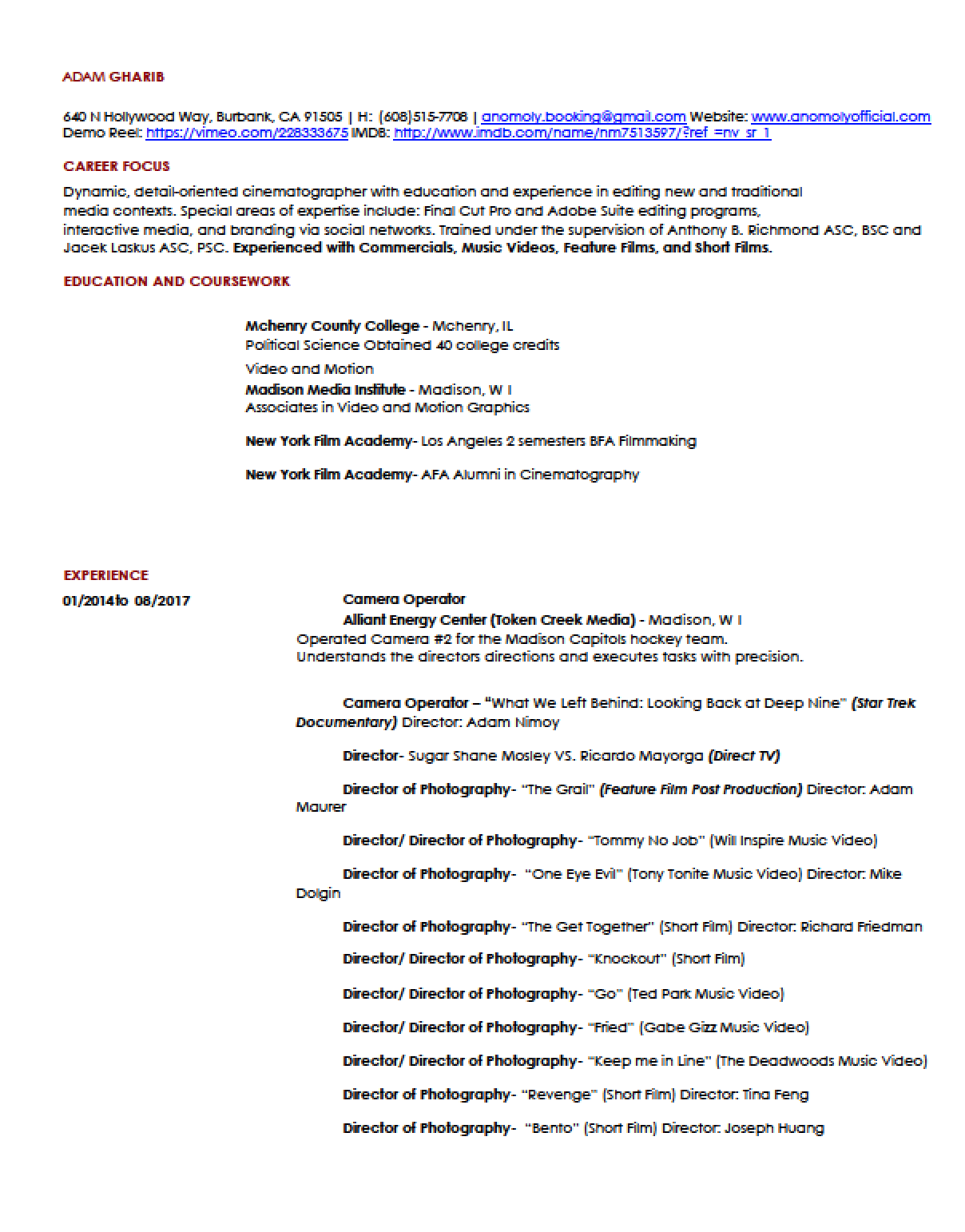 Imdb Resume Resume Anomoly Official