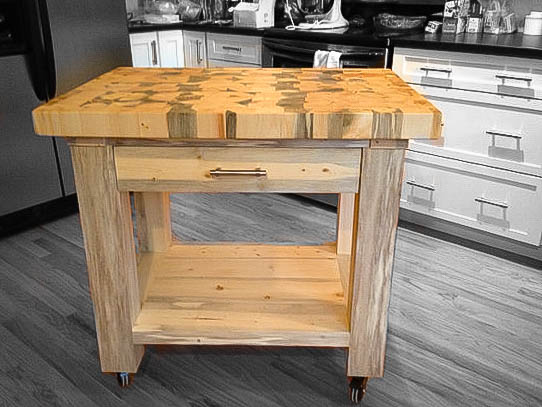 kitchen workbench round sink the tabor single drawer island colorado tables