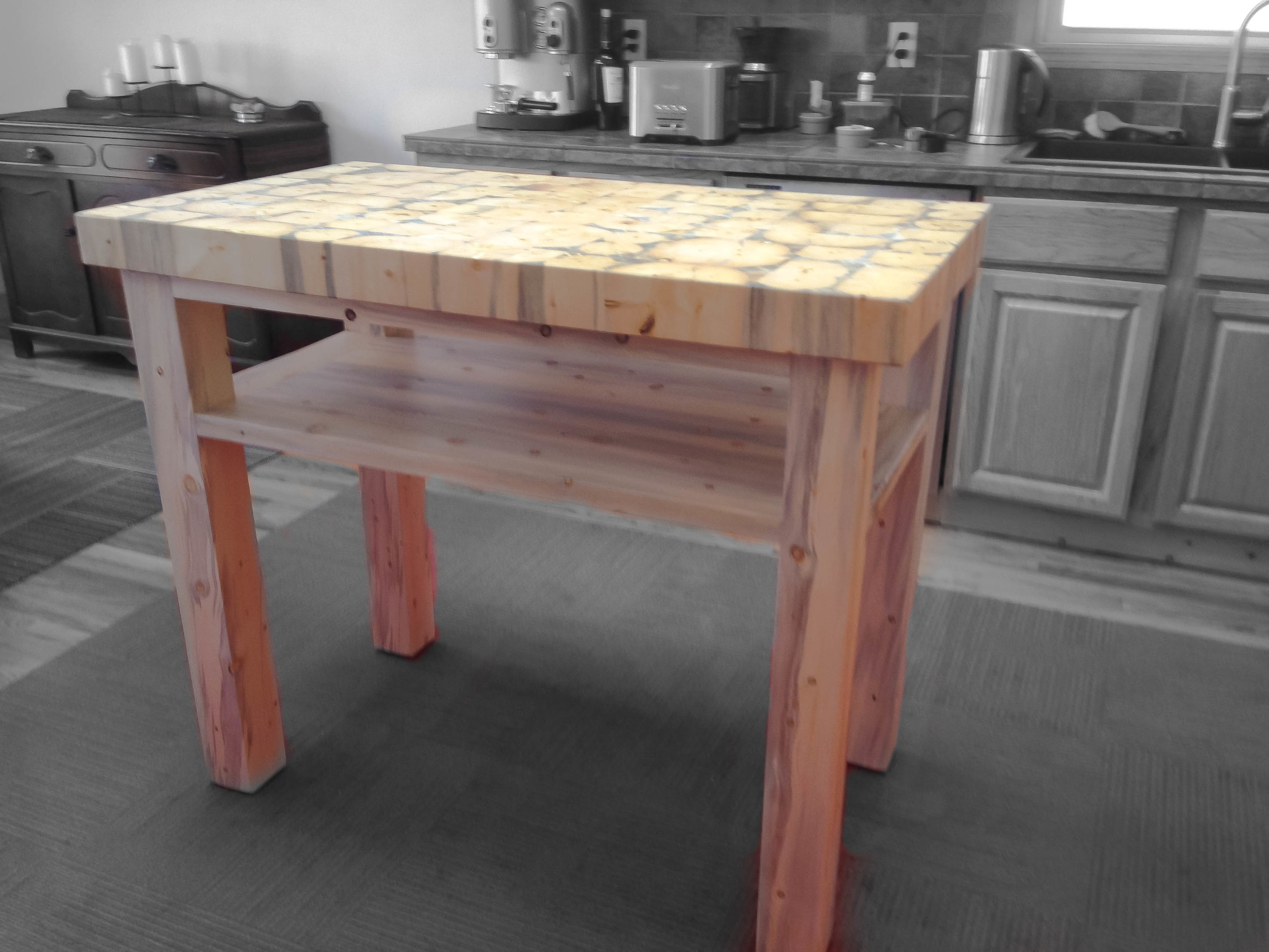 kitchen workbench roll about cart the sadler island colorado tables no drawer style