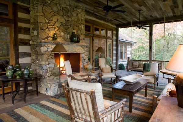 outdoor living space with fireplace Outdoor Fireplaces — Unlimited Outdoor Kitchens