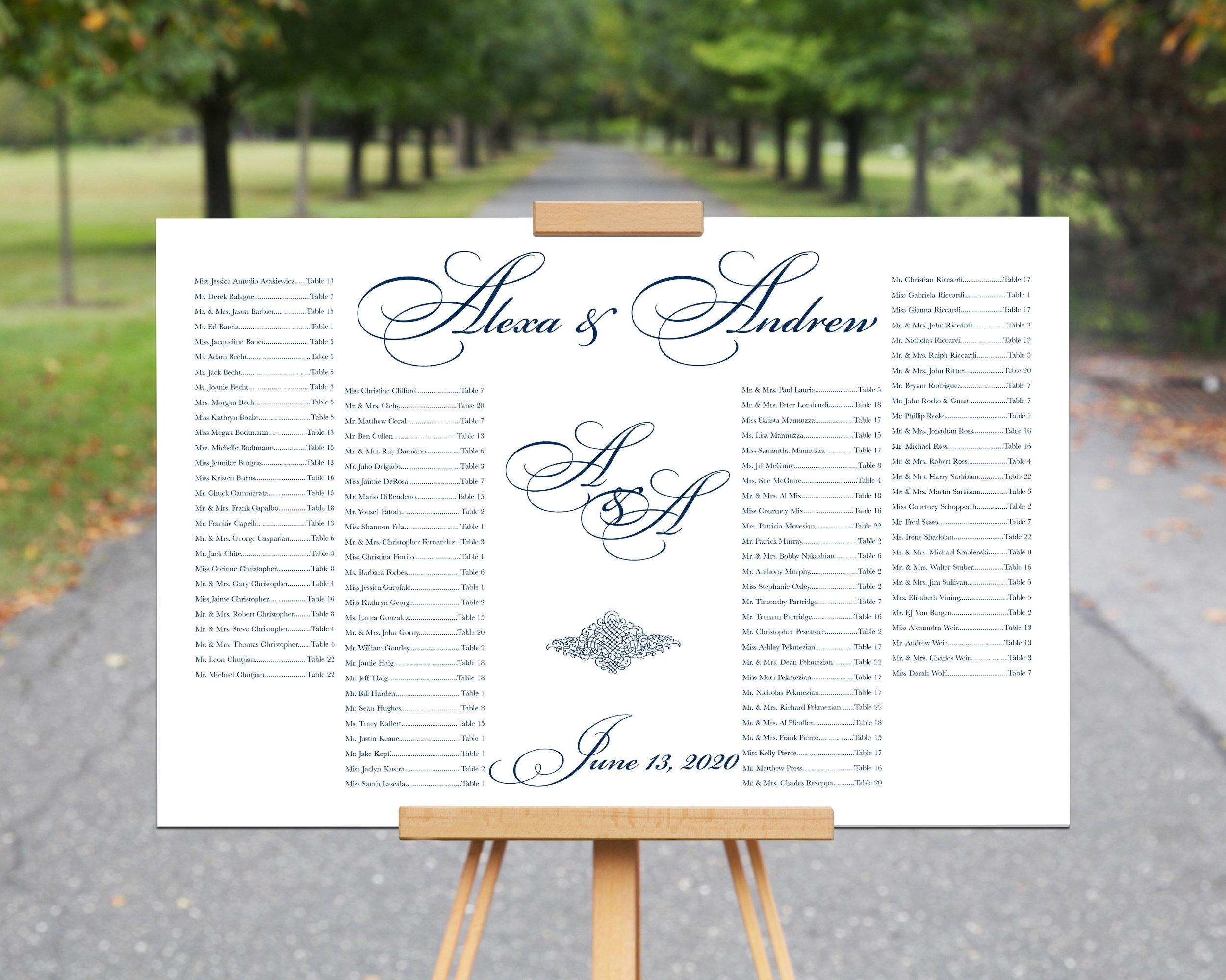 Alexa andrew seating chart design file only pdf also  kalijo works rh kalijoworks