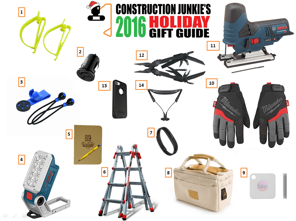 Last Minute Construction Holiday Gift Guide 2016