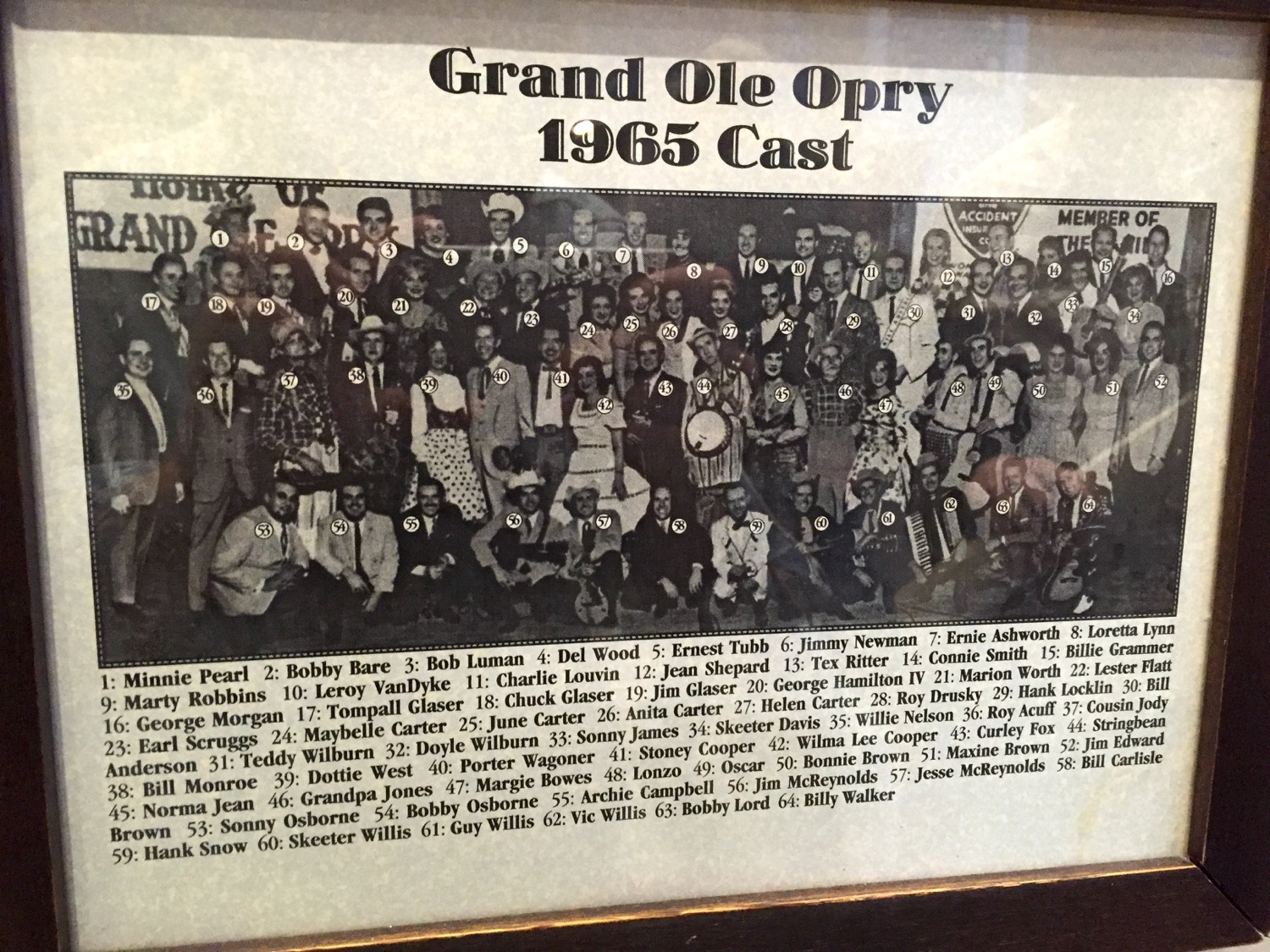 This photo hangs in the lobby. They had a stacked cast in 1965.