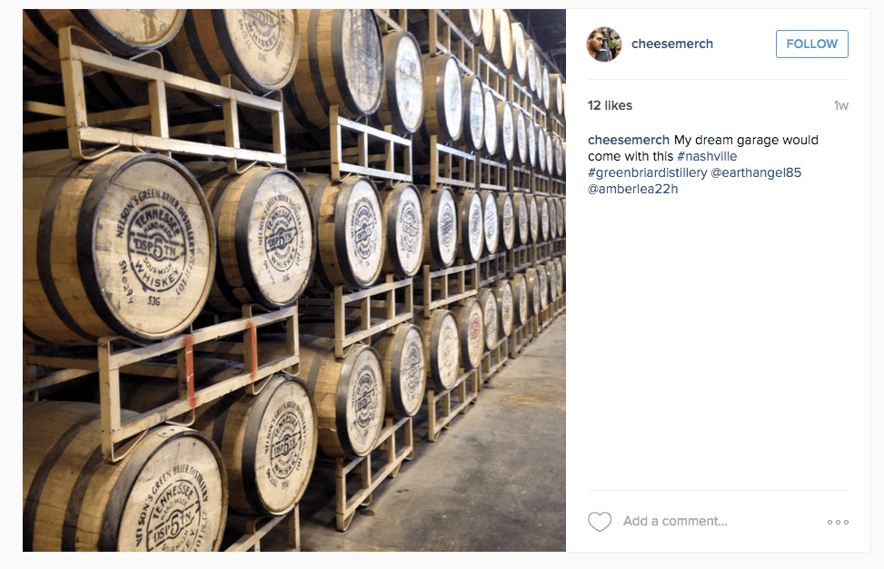 Kegs of whiskey at Greenbria via @cheesemerch