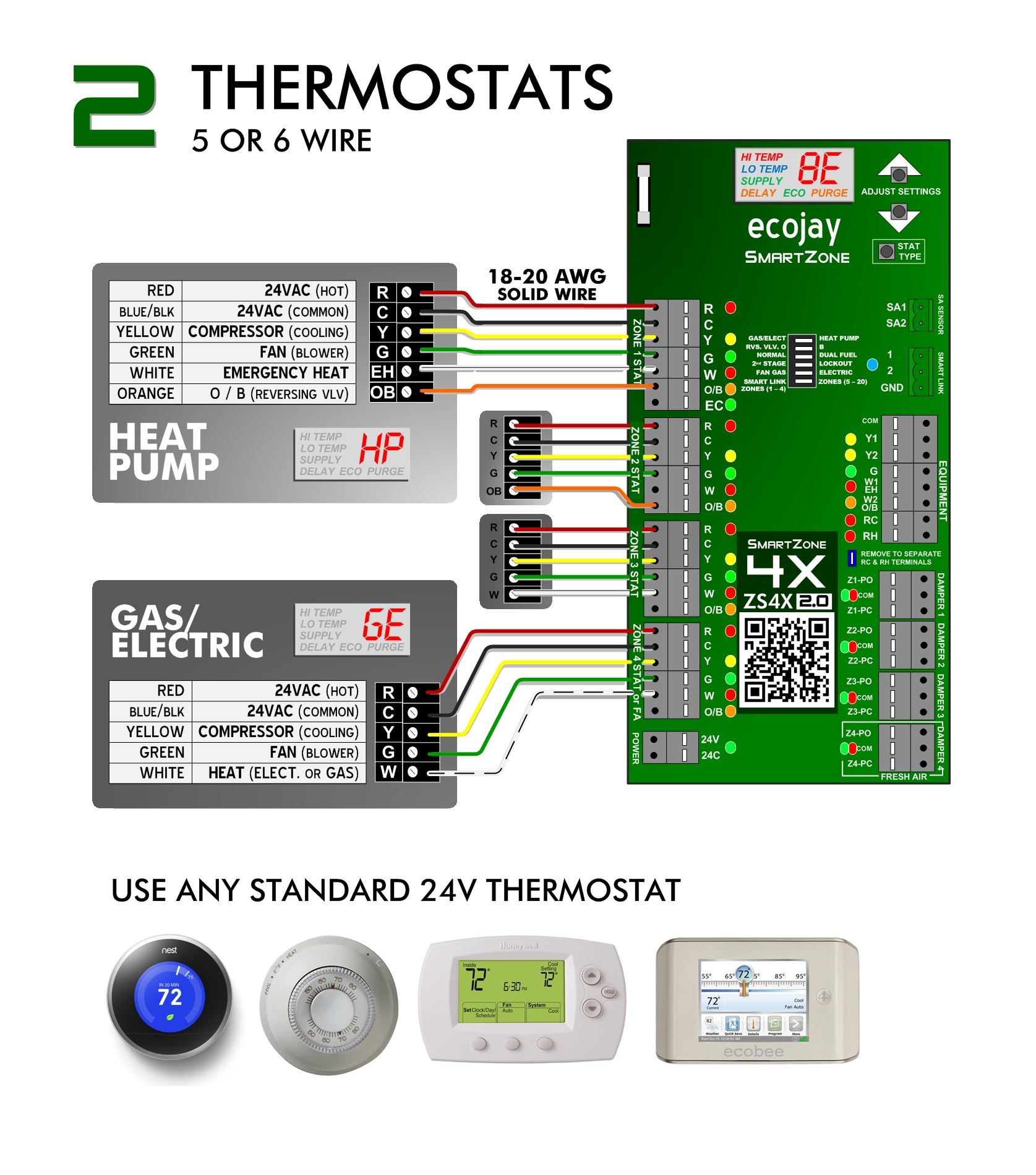 hight resolution of smartzone thermostat install